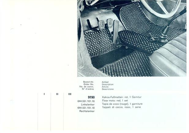 Porsche Catalogue Cocomats