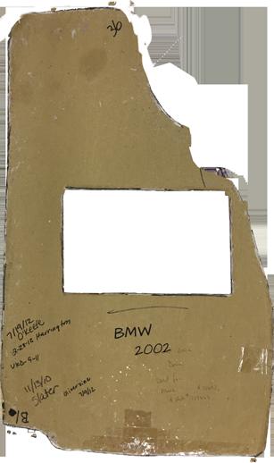 BMW 2002 Car Mat Template Pattern