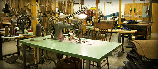 Photo of Sewing Machine in CocoMats.com Office.