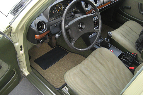 Olive Green Sisal #49 in a Mercedes-Benz W123