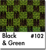 Green Checkered Car Mats
