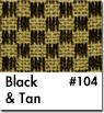 Tan Checkered Car Mats