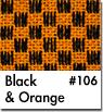 Orange Checkered Car Mats